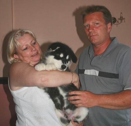 Baloo leaving with Kevin & Wendy